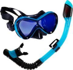 Atlantis Abaco Combo - Snorkelset - Kinderen - Zwart/Turquoise - met UV lens