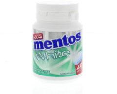 Groene Mentos Gum greenmint white pot 40 Stuks