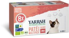 Yarrah Biologisch Kattenvoer Multipack Paté Graanvrij Zalm - Zeewier 800 gr