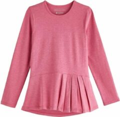 Coolibar - UV Shirt voor meisjes - Longsleeve - Aphelion Tee - Dahlia Roze - maat M (122-134cm)
