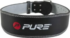 Zwarte Pure2Improve Gewichthef riem, S P2I200780 Banden en riemen voor krachttraining-Unisex-Maat