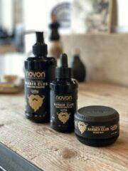 NOVON Barber Club Baard Set - Shampoo & Beard oil & Beard wax - groom je baard in model