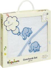 Playshoes badcape cadeauset olifant wit blauw