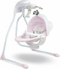 Roze Caretero Elektrische schommelstoel RAFFI pink - wipstoel geschikt voor newborns