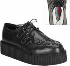 Demonia Creepers -38 Shoes- CREEPER-402 US 6 Zwart