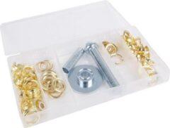 Gouden ABC-Led Zeilringen set - 100 stuks + gereedschap
