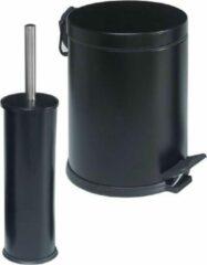 Tiss Pedal Bin Classic Pedaalemmer 2-delig- 5 L - Zwart