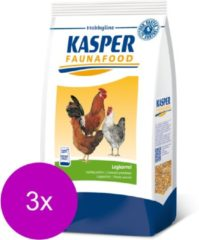 Kasper Faunafood Legkorrel - Kippenvoer - 3 x 4 kg