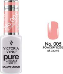 Roze Gellak Victoria Vynn™ Gel Nagellak - Gel Polish - Pure Creamy Hybrid - 8 ml - Powdery Rose - 005 - Perzik