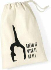 Gebroken-witte Sparkle&Dream Leertjes/Lusjes Tasje 'Dream It', voor turnen en gymnastiek
