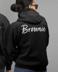 Bruine B&C Collection Blondie & Brownie Hoodie Handwritten (Brownie - Maat S)