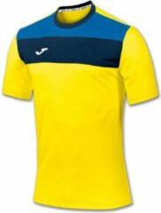 Joma Crew Shirt Korte Mouw - Geel / Royal / Marine | Maat: 2XL-3XL