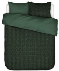 Groene Essenza Bory Dekbedovertrek - Lits-jumeaux (240x200/220 Cm + 2 Slopen) - Katoen Satijn - Green