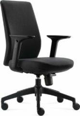 BenS 918-Eco-1 Mooie ergonomische bureaustoel met in hoogte verstelbare armleggers Zwart
