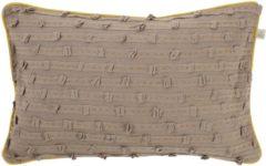 Bruine Dutch Decor Molta - Sierkussen - 30x50 cm - taupe