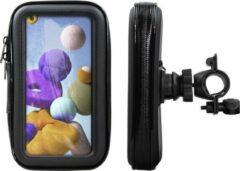 Shop4 - Samsung Galaxy A21s Fietshouder Stuur Spatwaterdicht Zwart