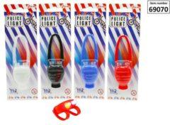 Toi-Toys Politieverlichting LED silicon 1 stuk incl. batterij