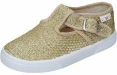 Nette schoenen Enrico Coveri Sneakers kleding stof goud BN686