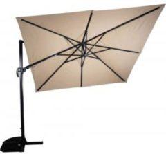 Grijze Outdoor Living zweefparasol VirgoFlex 300 x 300 cm - ecru