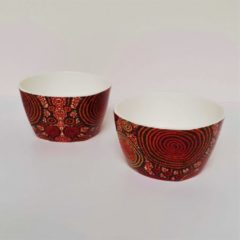 Rode Alperstein Designs Designkommen set van 2 - Teddy Jakamarra Gibson - Aboriginal collectie