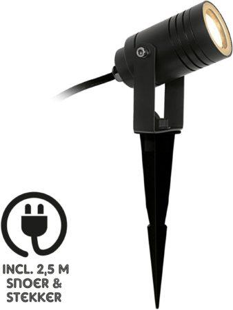 Afbeelding van Zwarte KS Verlichting Buitenlamp Tuinspot Garden pike - Aluminium - Zwart - K Verlichting