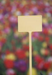 Gele Nature 5x Moestuin/groentetuin/kruidentuin plaatetiketten 8,5 cm - Moestuin stekers 5 stuks