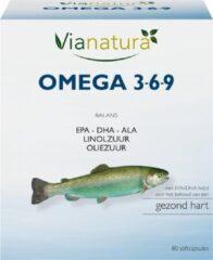 Vianatura VIA NATURA Omega 3-6-9 LARGE 80 cap NL/BE