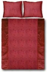 Bordeauxrode Essenza Gloss Dekbedovertrek - Eenpersoons - 140x200/220 cm - Red