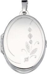 Best Basics Zilveren Medaillon Ovaal 'Bladmotief' Voor 4 foto's. 145.0051.00