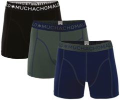 Blauwe Muchachomalo Jongens ondergoed Muchachomalo 3-PACK BOYS SHORT SOLID/SOLID/SOLID donker 122/128