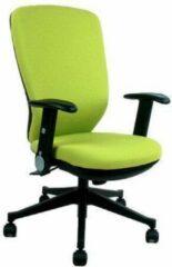 BS24 Bureaustoel - Met Armleuning - Stof - Groen - Ergonomisch