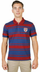 Rode Polo Shirt Korte Mouw Oxford University - queens-rugby-mm