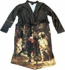 Art badjassen Badjas met Nachtwacht opdruk – Unisex – Bathrobe – Maat S