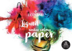 Talens Ecoline papier, wit met fijne korrel 300 g/m², ft A3, blok met 12 vellen