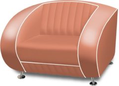 Bel Air Retro Fauteuil SF-01 Dusty Rose - Bel Air Retro Fauteuil SF-01 Dusty Rose