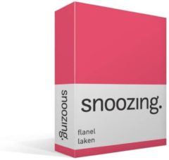 Moment By Moment Snoozing flanel laken Fuchsia Lits-jumeaux (280x300 cm) (190 fuchsia)