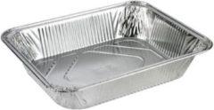 Zilveren Plus Pack Aluminium wegwerp bak 3600 ml , 1/2 GN- 100 stuks