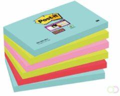 Post-it Super Sticky notes Miami, ft 76 x 127 mm, 90 vel, pak van 6 blokken