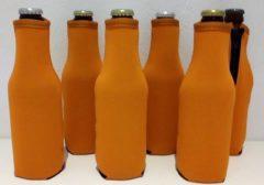 Koozie.eu - 6 stuks bierfleshouder- flessen koel houder | bierfleshoes | oranje