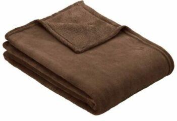 Fleece plaid Olbia Ibena chocoladebruin