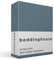Beddinghouse Jersey - Lycra Split-topper Hoeslaken - Lits-jumeaux - 200x200/220 cm - GrijsBlauw