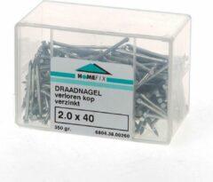 Hoenderdaal Draadnagel verloren kop gegalvaniseerd 2.0 x 40mm 350 gram (Prijs per 2 dozen)
