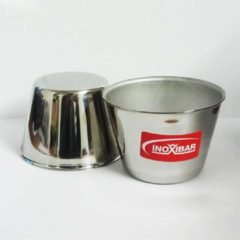 Zilveren RVS timbaaltje - 8cm x 5.5cm - Inoxibar