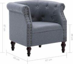 Licht-grijze Merkloos / Sans marque Luxe Fauteuil Lichtgrijs / Loungestoel / Lounge stoel / Relax stoel / Chill stoel / Lounge Bankje / Lounge Fauteil / Cocktail stoel