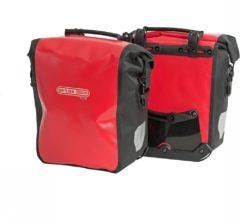 Rode Ortlieb Dubbele fietstas - Front Roller City - F6001 - 25 L - Rood/Zwart