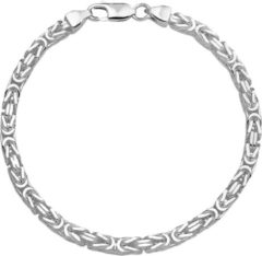Huiscollectie The Jewelry Collection For Men Armband Konings 4,0 mm - Zilver