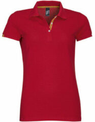Rode Polo Shirt Korte Mouw Sols PATRIOT FASHION WOMEN