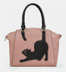 Blauwe Brenice Cat Pattern Handbag