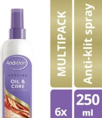 Andrélon Special Oil & Care Anti-Klit Spray - 6 x 250 ml - Voordeelverpakking