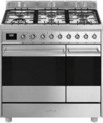 Smeg C92GMXNLK9 gasfornuis met 2 ovens en Vapor Clean functie